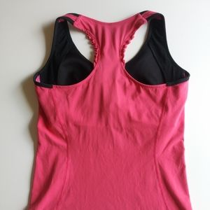 Lucy Large Pink Active Tank Built In Bra